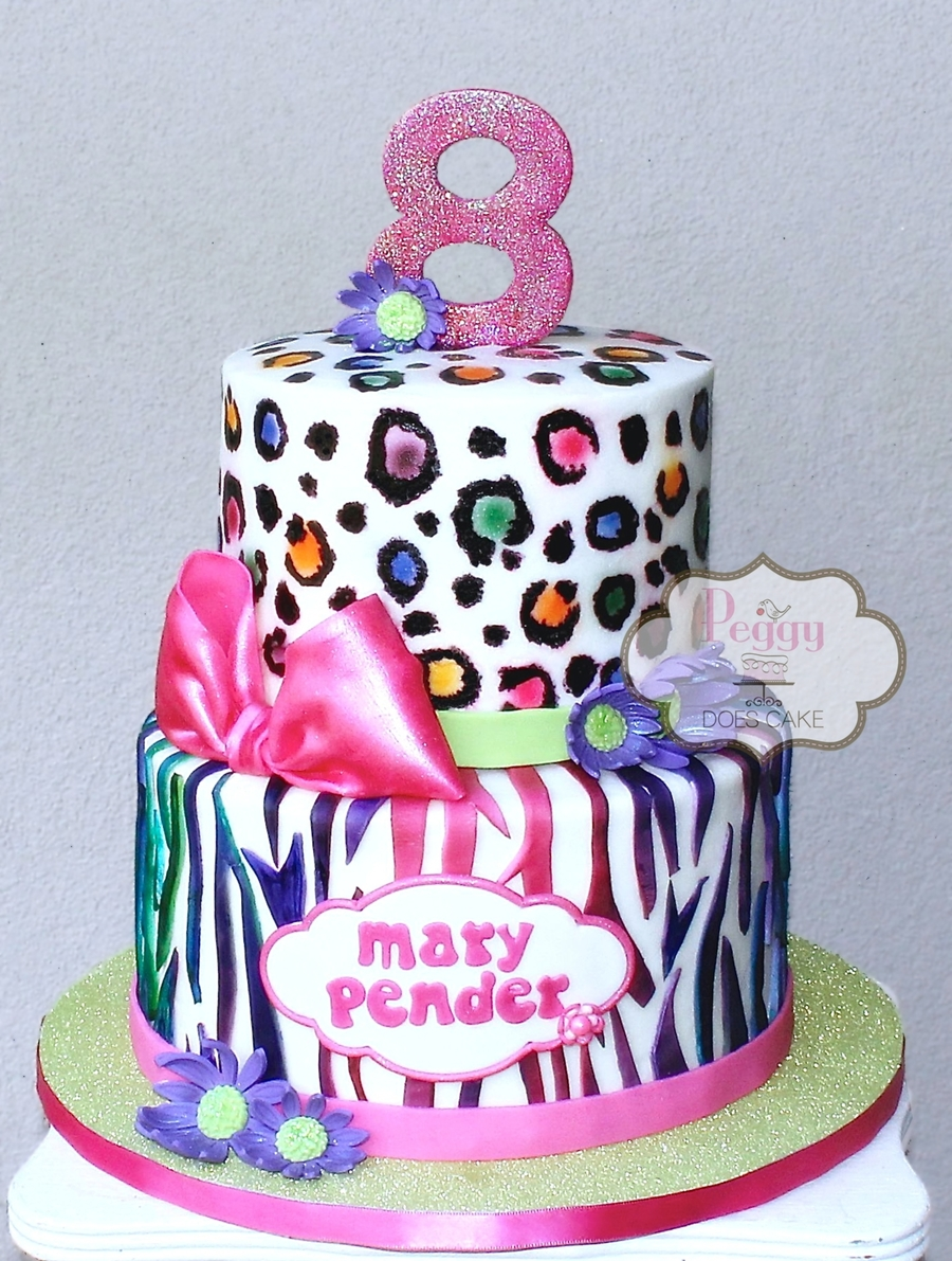 Neon Animal Print Cake On Central