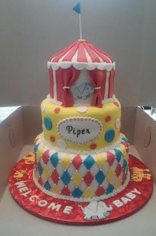 Circus Themed Baby Shower Cake