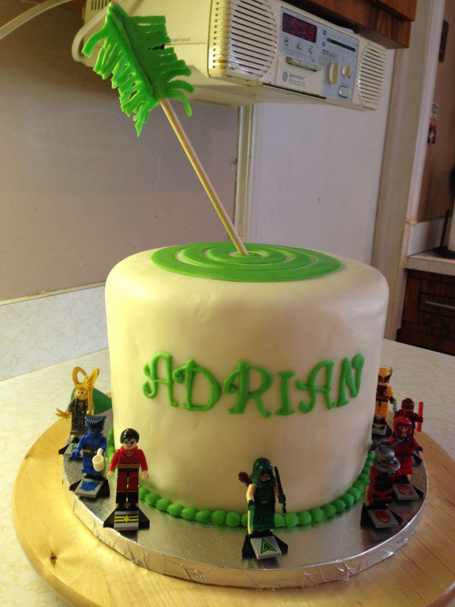 Strange Green Arrow Birthday Cake Cakecentral Com Personalised Birthday Cards Veneteletsinfo