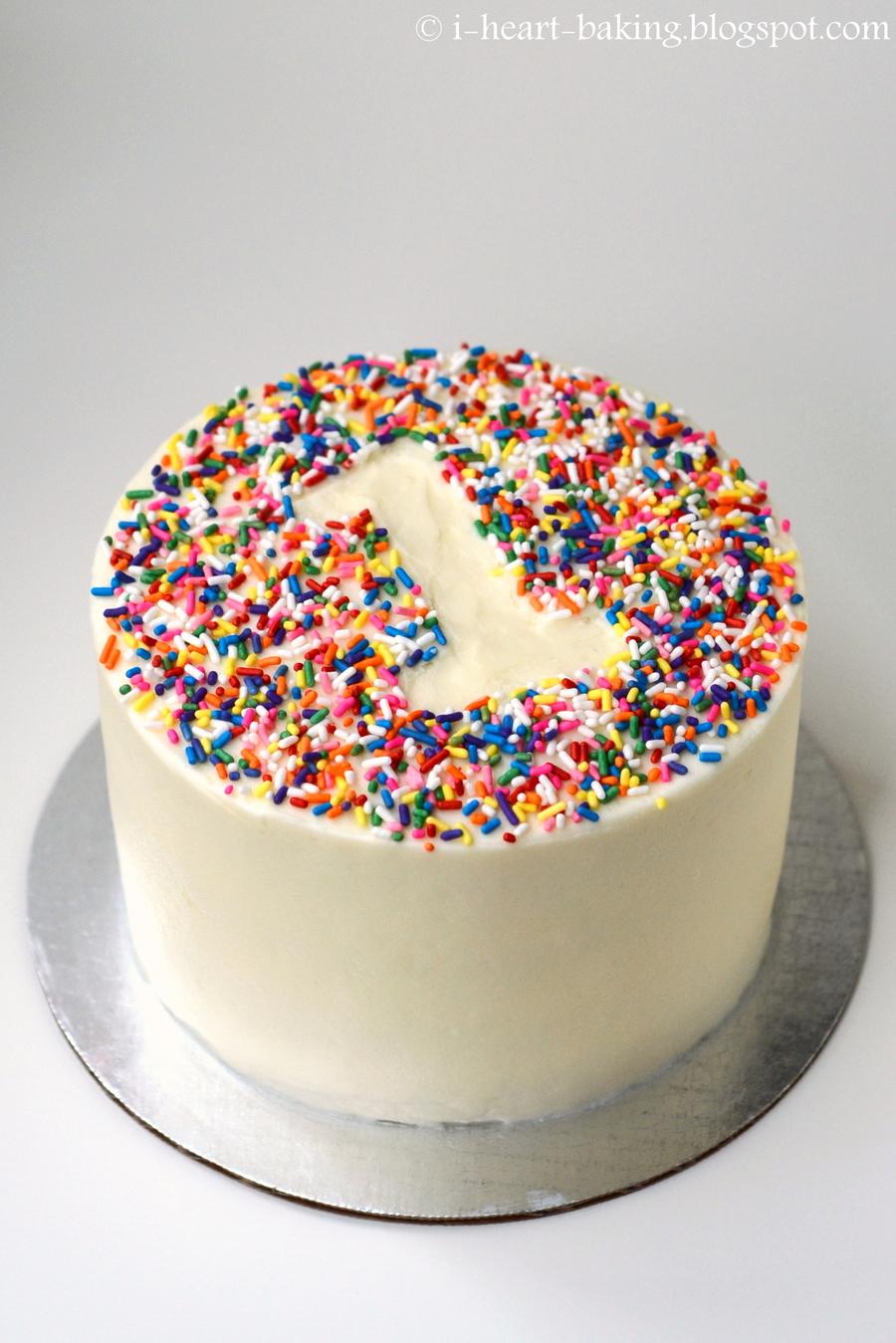 Rainbow Sprinkle First Birthday Smash Cake Cakecentral