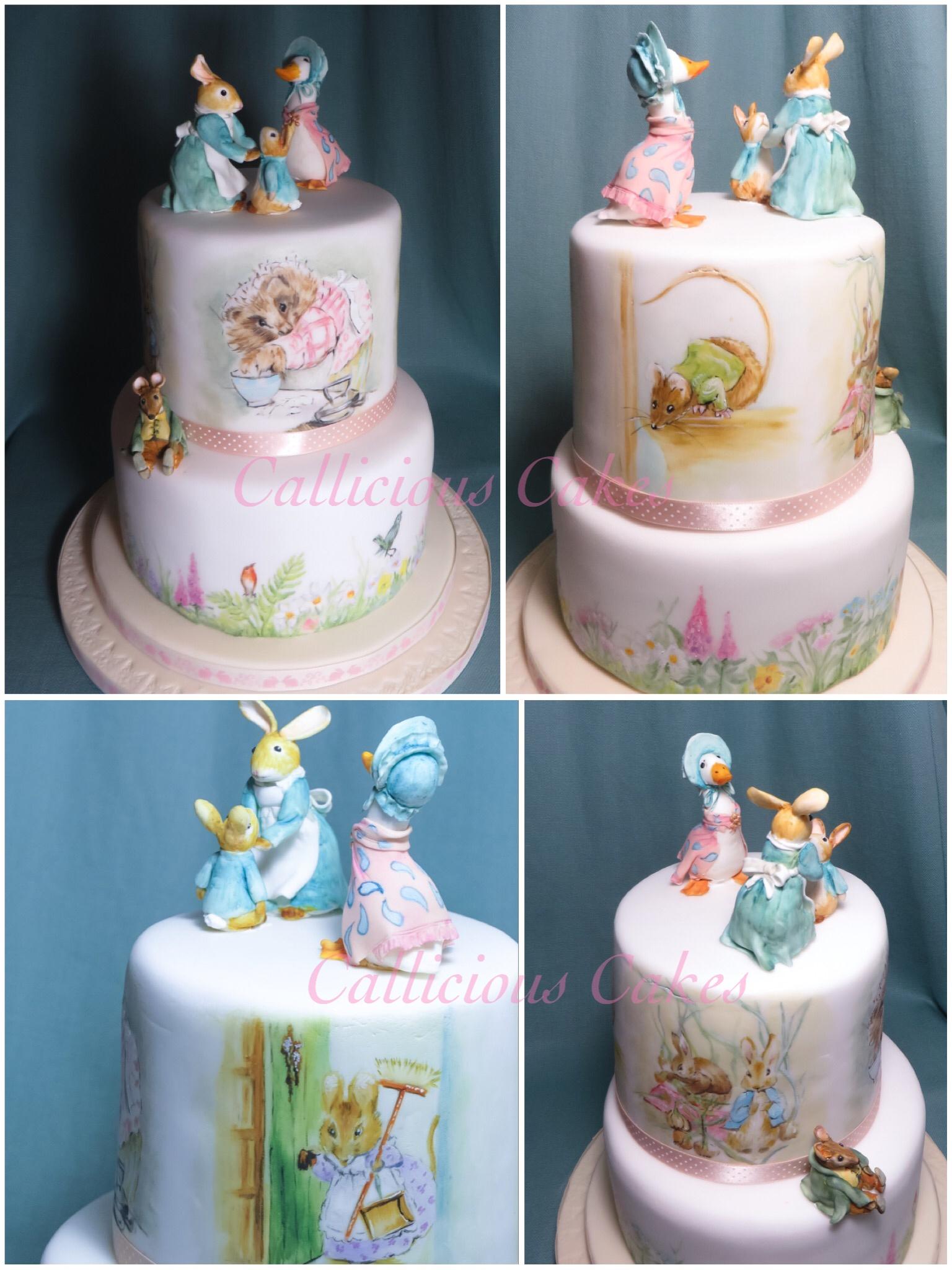 Rabbit Birthday Tiered Cake