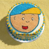 Caillou Cake Birthday cake for little Russell, who is turning 4. His mom wanted a cake of his favorite character, Caillou. He was overjoyed.