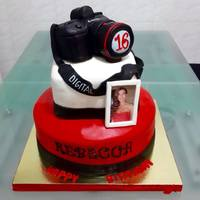 Canon Camera Cake This cake was for 80 people, delivering it was the hardest part honestlyreally love how it turned out :3sorry picture is not very accurate...
