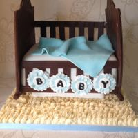 Baby Shower Cradle Vanilla sponge with fondant accents