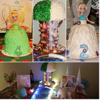 Tinkerbelle, Periwinkle And Pixie Hollow Tree Caes  This cake was a very special cake made for my grand princesses granddaughters who celebrate birthdays back to back one on the 19th and the...