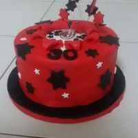 Carl's Birthay Cake.   Red,black