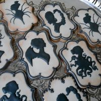 Vintage Horror Cameos Sugar Cookies with Royal Icing