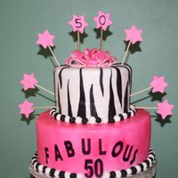 50Th Birthday   Caribbean fruit cake. Covered with fondant made from scratch.