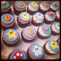 Super Mario Brothers Cupcakes As a Mario fan, these were so much fun to work on! Super Mario Bros themed cupcakes for a little guy's birthday party. The cupcakes...