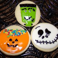 Halloween Cookies Sugar Cookies covered and decorated with glaze