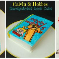 Handpainted Calvin And Hobbes Book Cake Calvin and Hobbes Book cake. The book cover is completely hand painted.