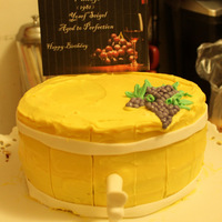 Wine Barrel Cake Wine barrel Birthday cake
