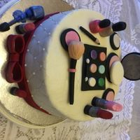 Make-Up For An 18 Year Old My goddaughter ordered a cake for her daughter who will be 18. She told me I could do anything with cosmetics as long as it had some...