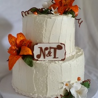 Tigerlily Wedding Cake With SMBC finish; all hand-made decor