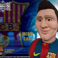 3 D Cake Sculpture Lionel Messi From Fc Barcelona! 3 D Cake Sculpture Lionel Messi from FC Barcelona! I hope you like it. :)