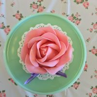 Cup Cake   my first attempt of a 3-D rose cup cake
