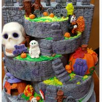 Spook-Ville I made this cake for the 2015 NC State Fair. It won first Place and Best in show in the Professional division. Soooo excited…...