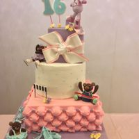 Birthday Cake   Sweet 16 birthday cake for my daughter.