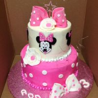 Minnie Mouse Cake buttercream cake