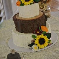 Wedding Cake buttercream and modeling chocolate with gum paste flowers