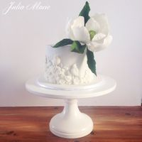 Magnolia Bas Relief Cake This was a little cake I created for a friend as a thank you gift. I was inspired by the fabulous Maggie Austin with her beautiful Bas...