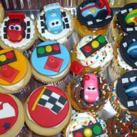 Race Cars Cupcakes   For a 1 year old birthday boy.