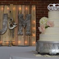 Rustic Wedding Cake Buttercream with fresh flowers.