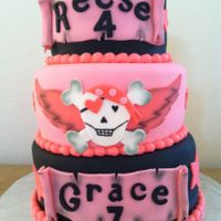 Girls Happy Pirate Party   A girls Happy Pirate Birthday Party. Fondant