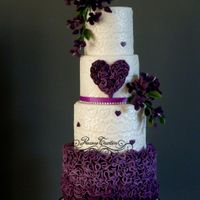 Purple Purple weddingcakex Peggy