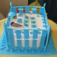 Crib Cake Expectant mom of twins Matthew and Jacob.