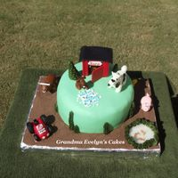 Farm Cake Client husband grew up on a farm, so she wanted that to be the theme for lil Lucas' 1st birthday cake. Loved doing the cake, but...