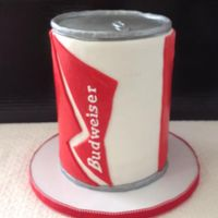 Beer Can Cake   fondant covered