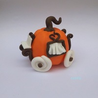 Pumpkin Carriage Pumpkin carriage cake topper 15cm high