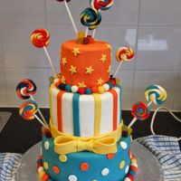 Candy Inspired Cake All decorations MMF