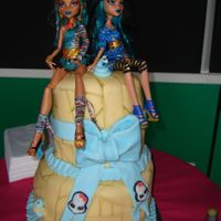 Monster High Cake Cleo Style My girls loved monster high still, so i made another cake for them, except this time cleo style... i actually preferred this one.