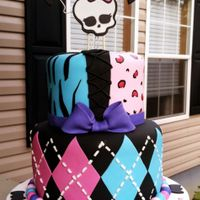 Monster High A shared birthday cake! The top tier is Red Velvet with Cream Cheese Buttercream. The bottom is Chocolate with Chocolate Buttercream. All...