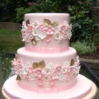 Pink And Gold Wedding Cake I inspired from the cake that picked by friend from pinterest
