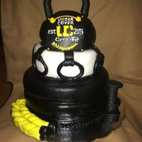Crossfit Fondant Cake I did this cake for a crossfit gym aniversary hope you like it