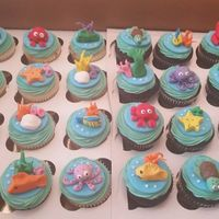 Mermaid Cupcakes fondant mermaid cupcake toppers