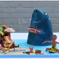 "Uninvited Guest At Beach Party  This is my cake for the Cake Contest at the Taart en Trends Fair 2015 in The Netherlands. The theme is ""Beach Party"".I had the..."