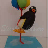 Pingu And The Balloons - Gravity Defying Cake I made this gravity defying cake for a litle boy second birthday. Both Pingu and bunch of baloons are all cake as you can see in the last...