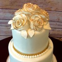 Wedding Cake   fondant covered and gum paste flowers