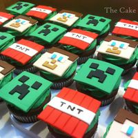 Minecraft Cupcakes Chocolate cupcakes with Minecraft Creepers, Steve, and TNT fondant toppers. Thanks for looking!