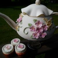 Bridal Tea This is a teapot cake made for a bridal shower