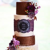 "Autumn's Glow Sharing my latest cake ""Autumn's Glow"" inspired by the fall shades of Plum with touch of Bronze. The cake was..."