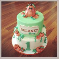 Pumpkin 1St Birthday My latest cake for Icing Smiles, Inc. was a fun little pumpkin/Fall theme for a precious little girl celebrating her first Birthday!...