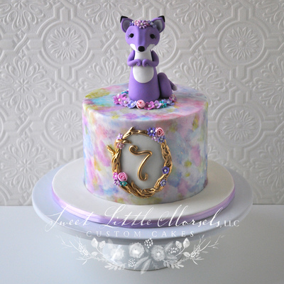Sweet Little Fox Birthday Cake