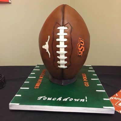 Divided House Football Cake