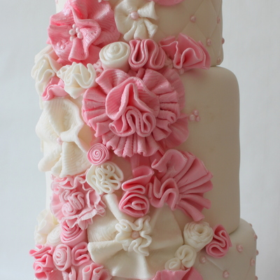 Pink Delight Wedding Cake