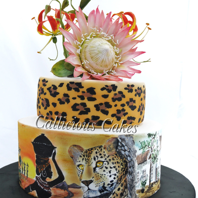 King Protea/ South African 50Th on Cake Central